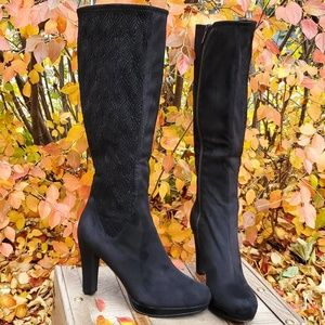 🥀IMPO Tall Black Faux Suede Platform Boots 9.5